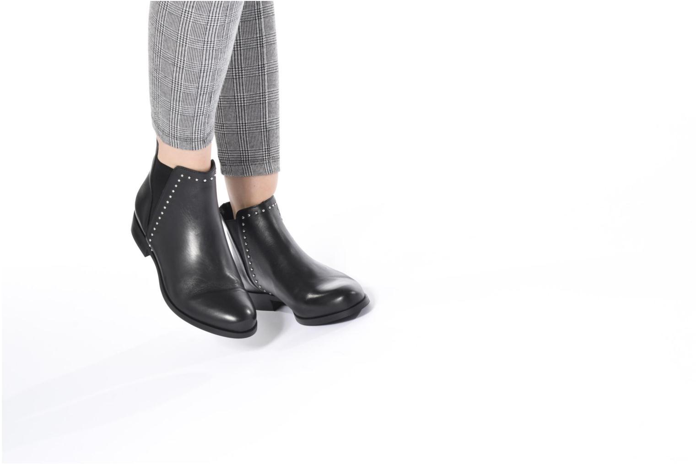 Bottines et boots Georgia Rose Soclou Noir vue bas / vue portée sac