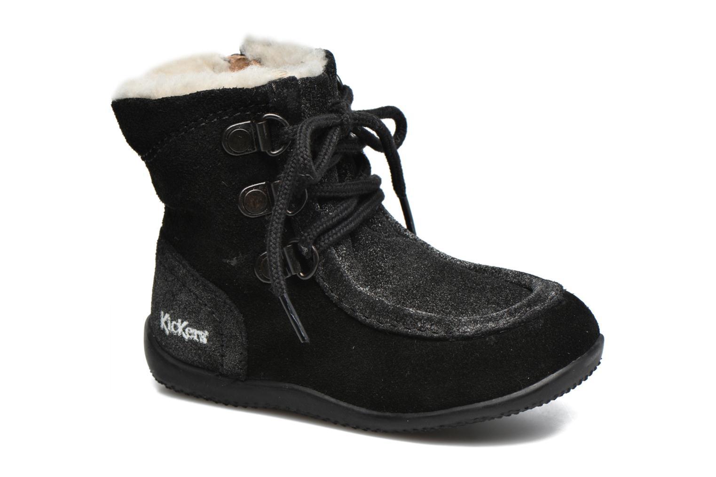 Bottines et boots Kickers Bamara Noir vue détail/paire