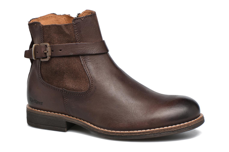 Bottines et boots Kickers Smackus Marron vue détail/paire