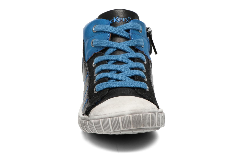 Baskets Kickers Bichocoss Bleu vue portées chaussures