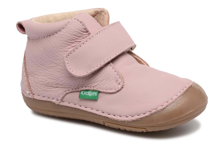 Bottines et boots Kickers Sabio Rose vue détail/paire