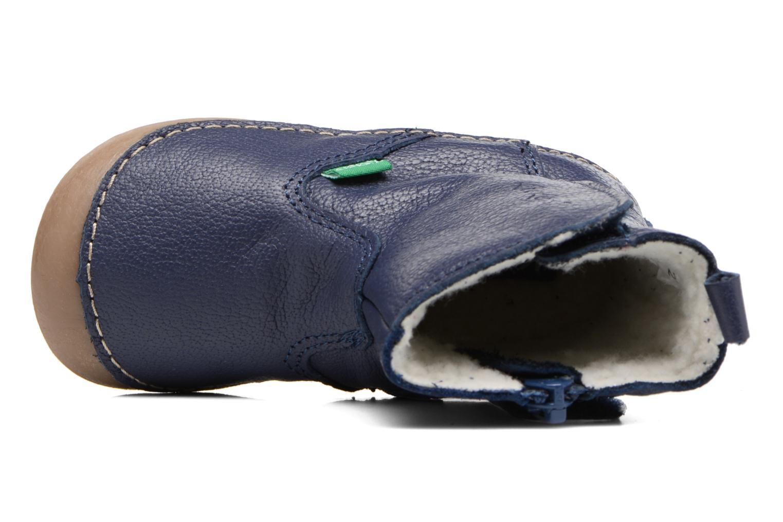 Bottes Kickers Socool Bleu vue gauche