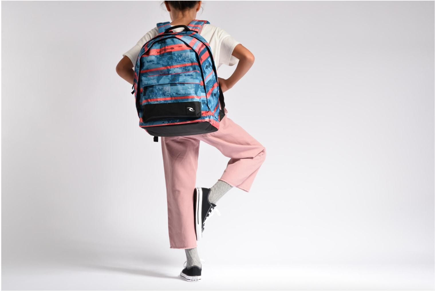 School bags Rip Curl Double dome Ocean Glitch Multicolor view from above
