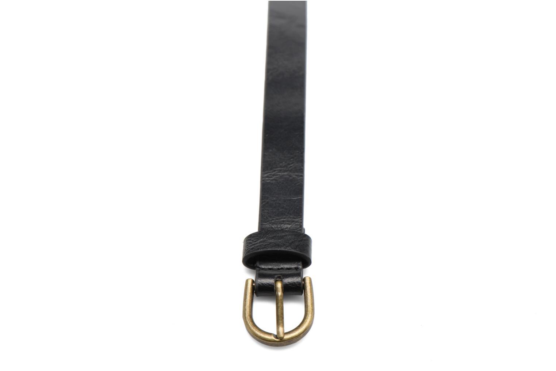 Ceintures Pieces Elegance Slim Leather belt 18mm Noir vue portées chaussures