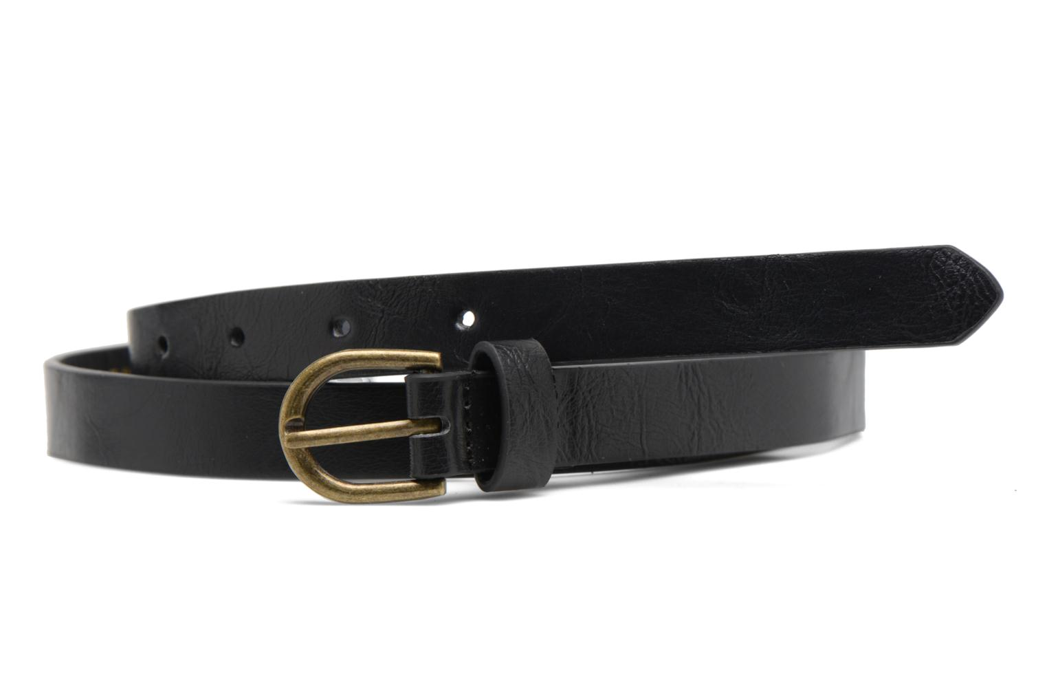 Elegance Slim Leather belt 18mm Black