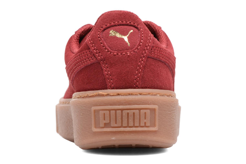 Baskets Puma PS Suede Platform Glam/Jr Suede Platform Glam Bordeaux vue droite