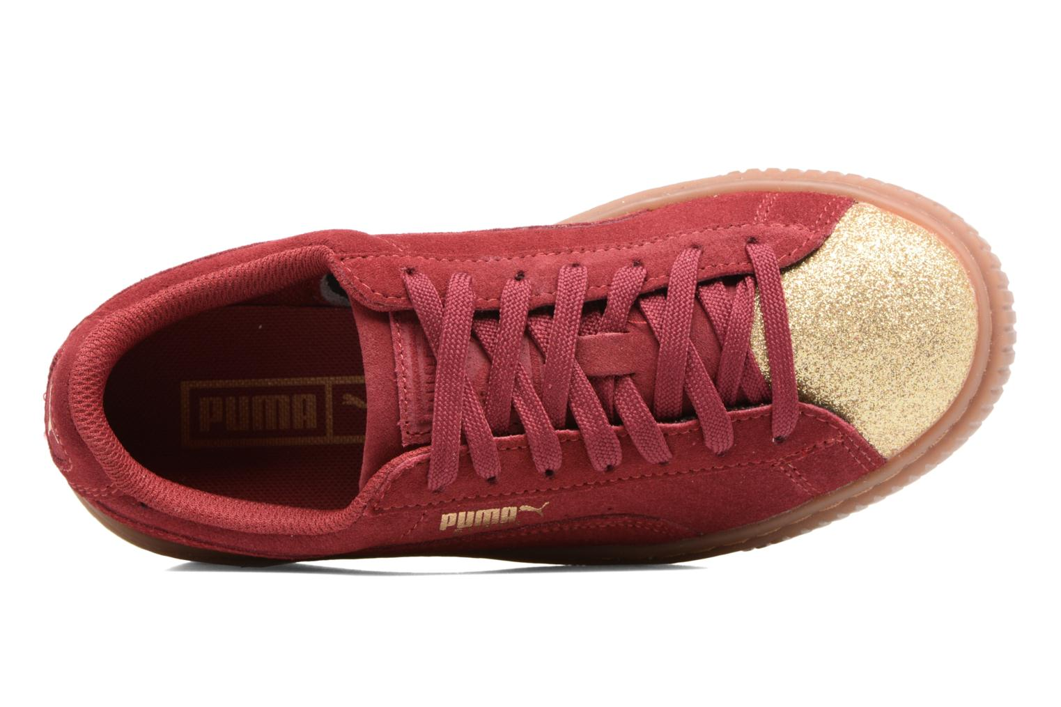PS Suede Platform Glam/Jr Suede Platform Glam Tibetan Red/Gold