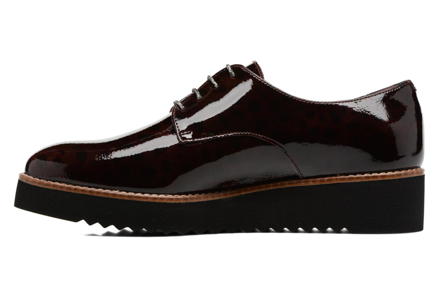 Lace-up shoes HE Spring Lana Burgundy front view