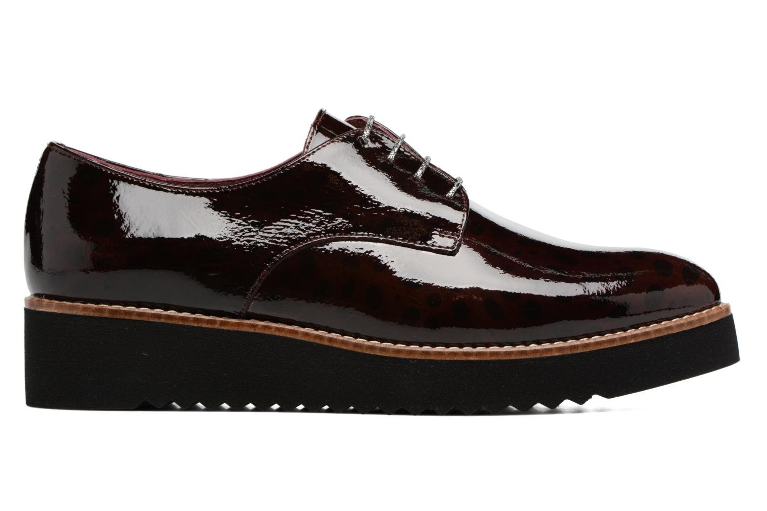 Lace-up shoes HE Spring Lana Burgundy back view