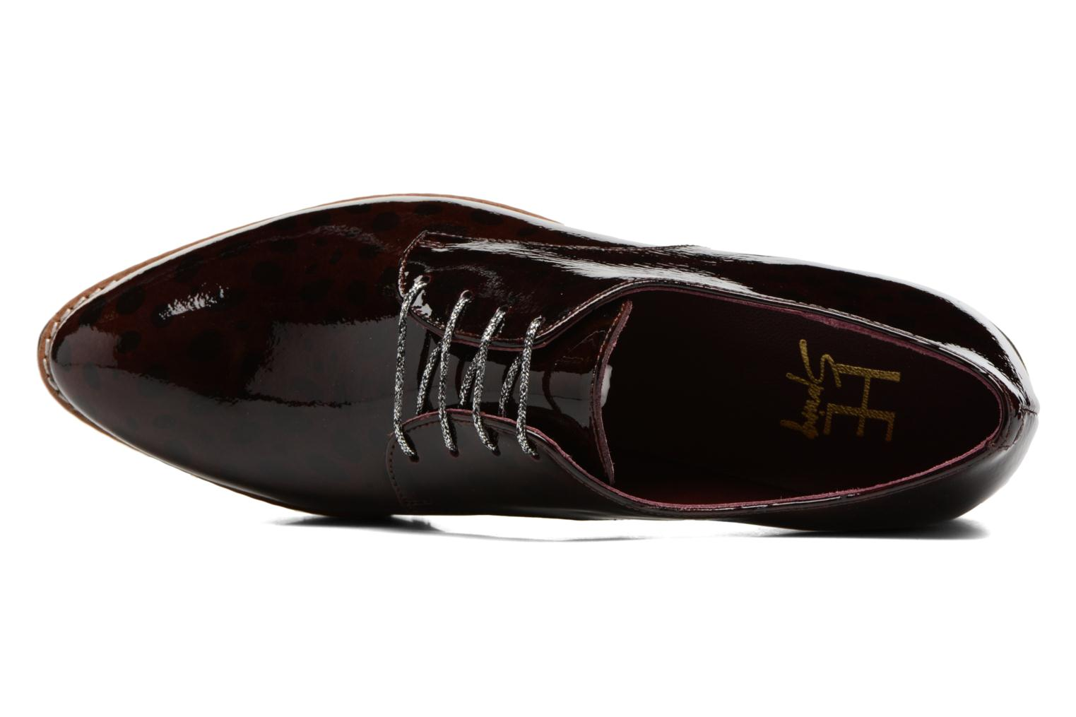 Lace-up shoes HE Spring Lana Burgundy view from the left