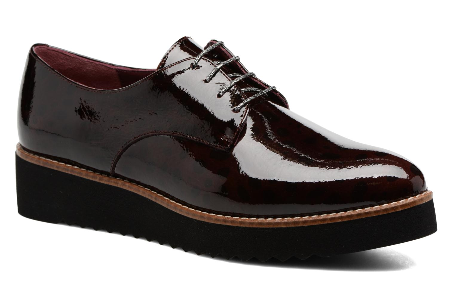 Lace-up shoes HE Spring Lana Burgundy detailed view/ Pair view