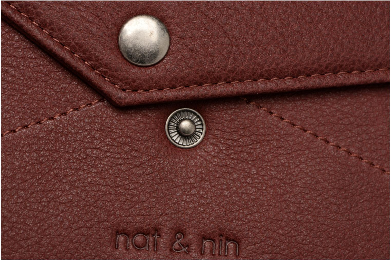 Portemonnaies & Clutches Nat & Nin Noa weinrot ansicht von links
