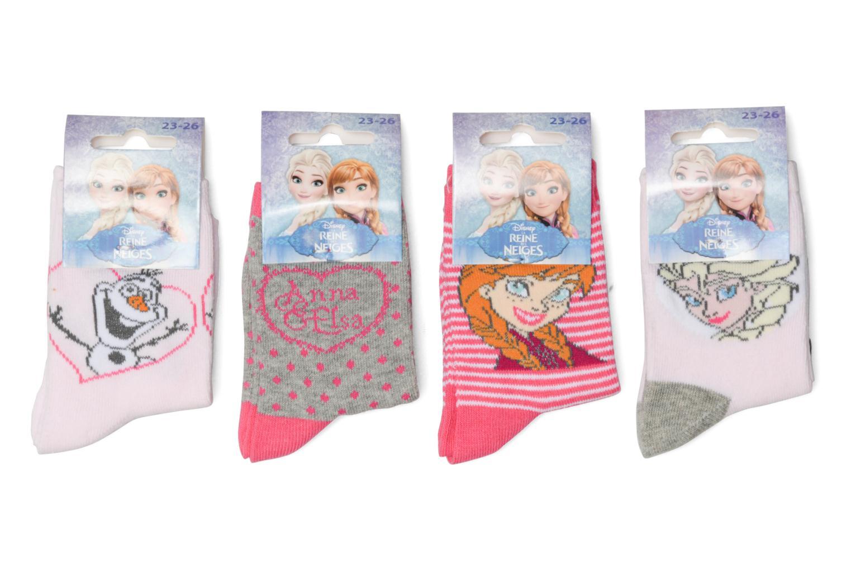 Chaussettes Lot de 4 La Reine des neiges Rose