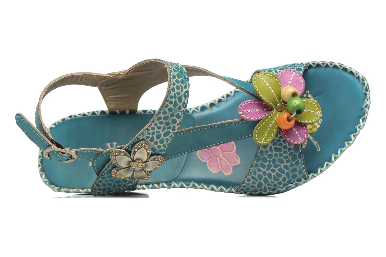 Sandales et nu-pieds Laura Vita Verre Bleu vue gauche