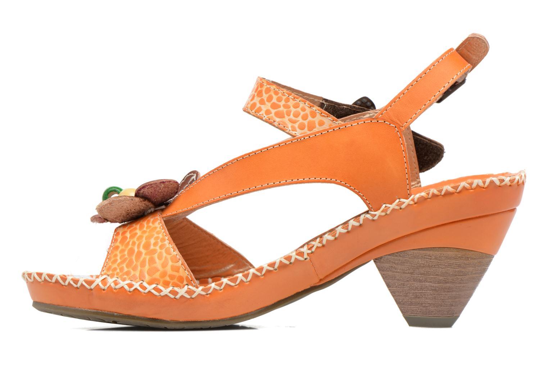 Sandales et nu-pieds Laura Vita Verre Orange vue face