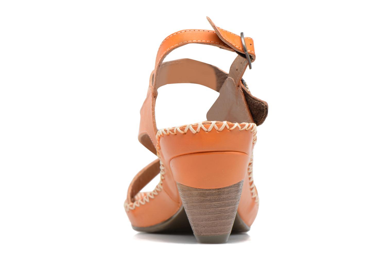Sandales et nu-pieds Laura Vita Verre Orange vue droite