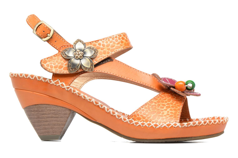 Sandales et nu-pieds Laura Vita Verre Orange vue derrière