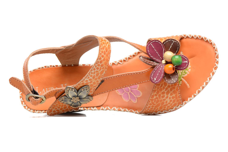 Sandales et nu-pieds Laura Vita Verre Orange vue gauche