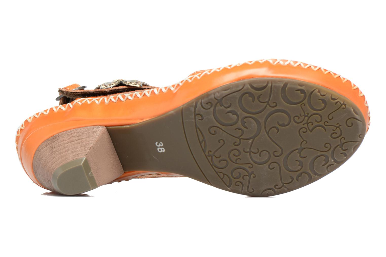 Sandales et nu-pieds Laura Vita Verre Orange vue haut