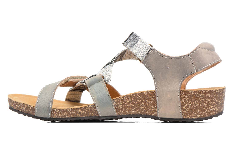 Sandales et nu-pieds Laura Vita Valentina Gris vue face