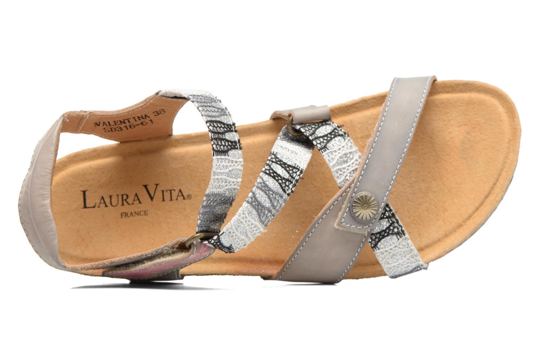 Sandales et nu-pieds Laura Vita Valentina Gris vue gauche