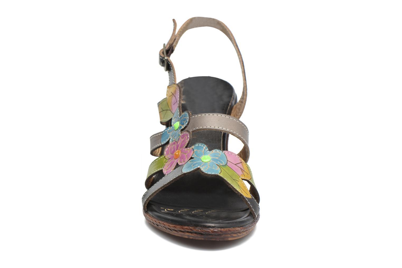 Sandales et nu-pieds Laura Vita Velte Noir vue portées chaussures