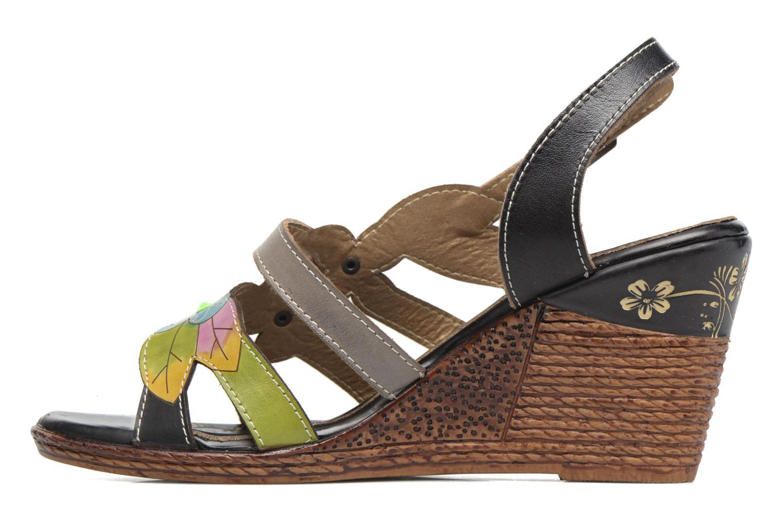 Sandales et nu-pieds Laura Vita Velte Noir vue face
