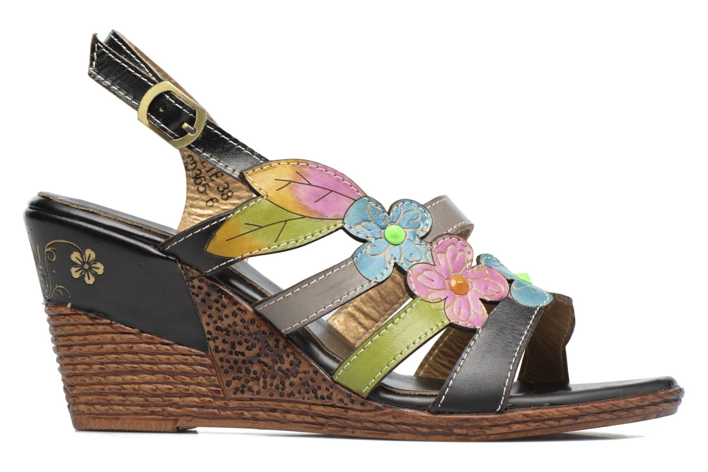 Sandales et nu-pieds Laura Vita Velte Noir vue derrière