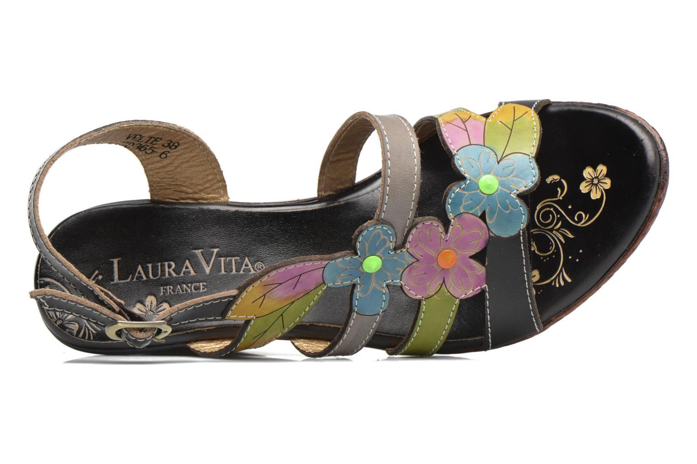Sandales et nu-pieds Laura Vita Velte Noir vue gauche