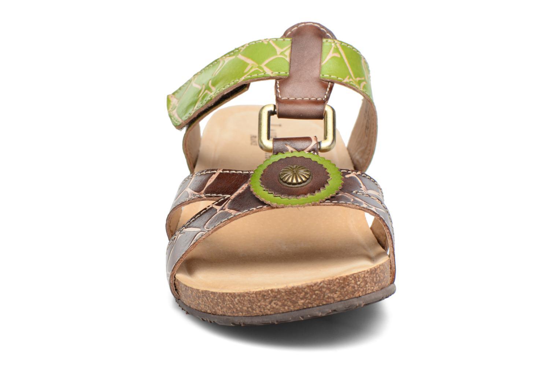 Sandales et nu-pieds Laura Vita Valence Marron vue portées chaussures