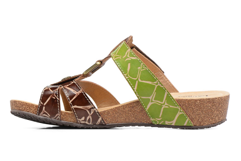 Sandales et nu-pieds Laura Vita Valence Marron vue face