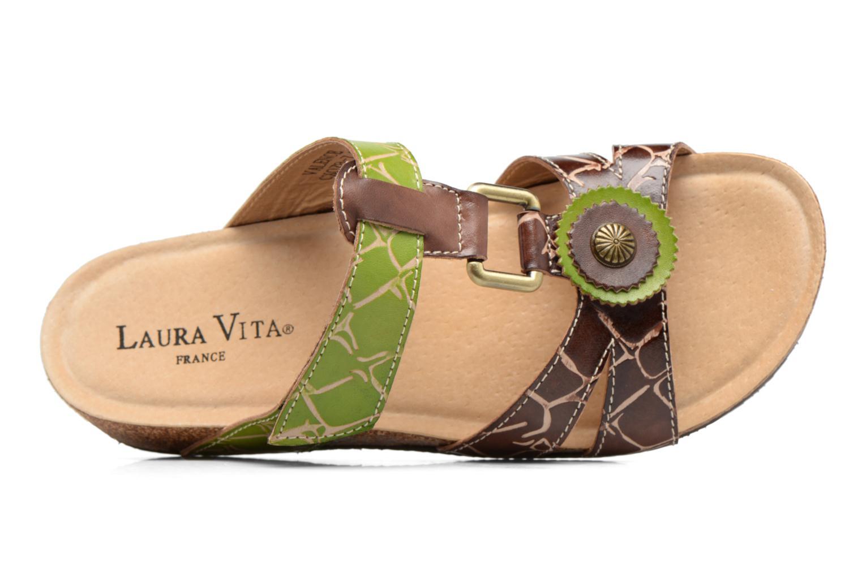 Sandales et nu-pieds Laura Vita Valence Marron vue gauche