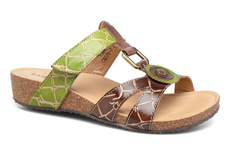 Sandales et nu-pieds Laura Vita Valence Marron vue détail/paire