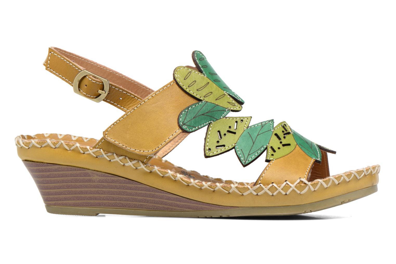 Sandales et nu-pieds Laura Vita Vannes Orange vue derrière