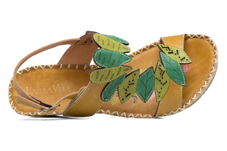 Sandales et nu-pieds Laura Vita Vannes Orange vue gauche