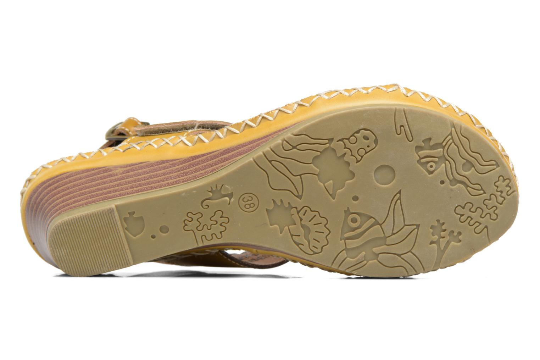 Sandales et nu-pieds Laura Vita Vannes Orange vue haut