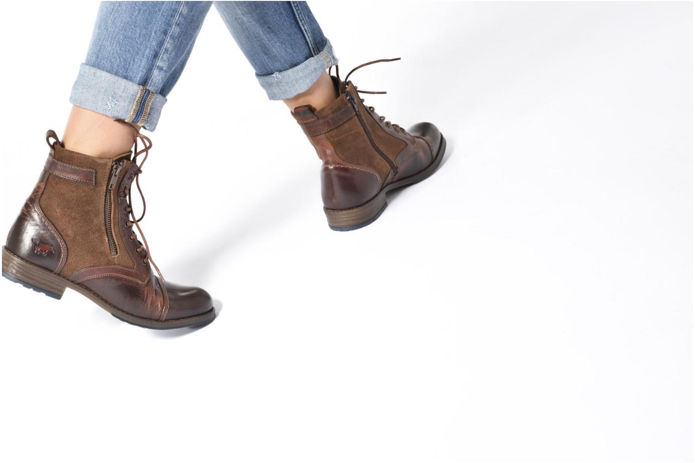 Bottines et boots Mustang shoes Maburgat Noir vue bas / vue portée sac