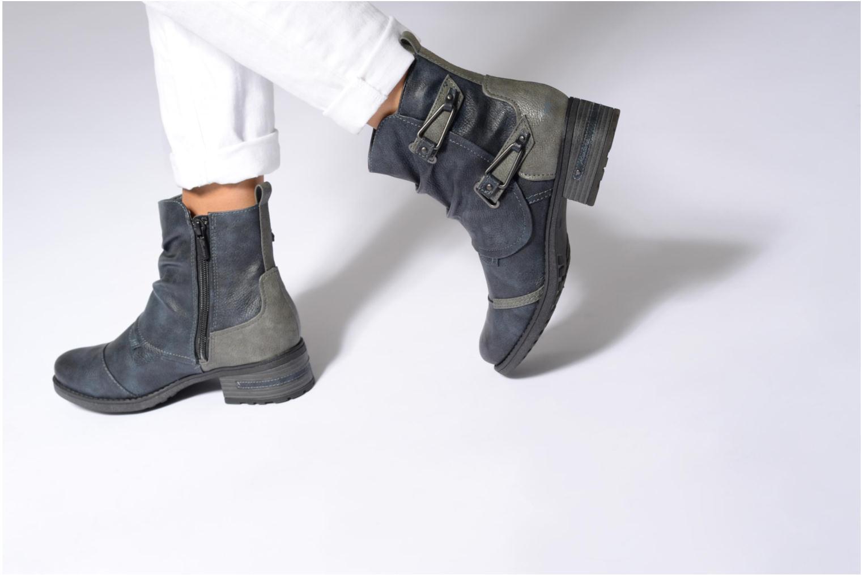 Bottines et boots Mustang shoes Eclewi Marron vue bas / vue portée sac