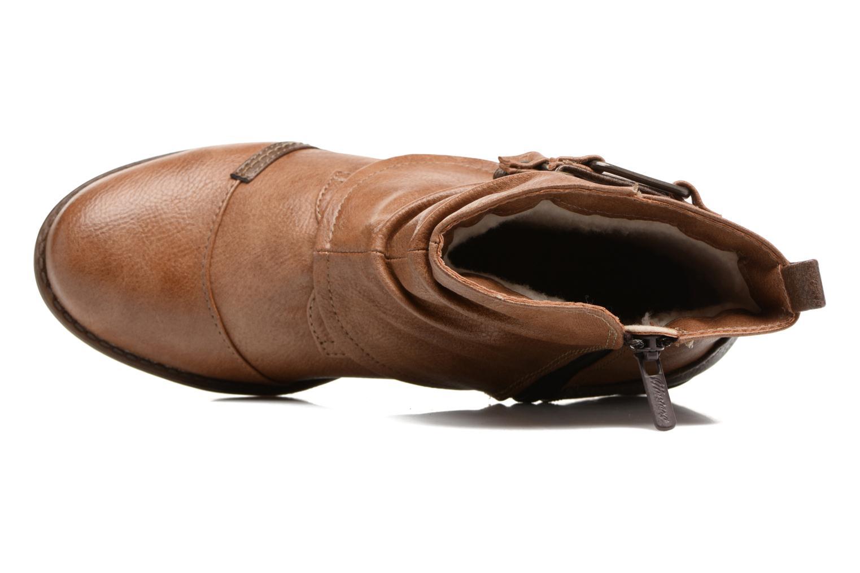 Bottines et boots Mustang shoes Eclewi Marron vue gauche