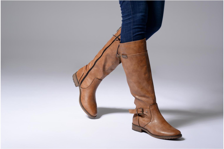 Bottes Mustang shoes Mircil Bleu vue bas / vue portée sac
