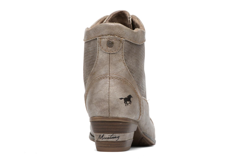 Bottines et boots Mustang shoes Foltar Or et bronze vue droite