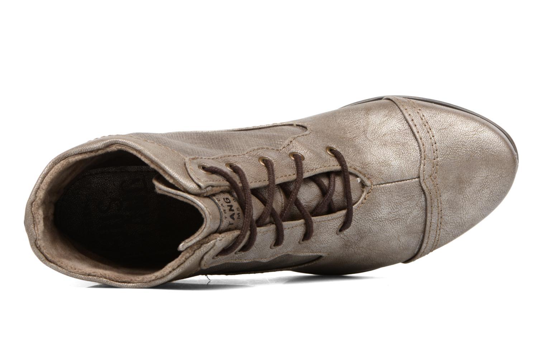 Bottines et boots Mustang shoes Foltar Or et bronze vue gauche