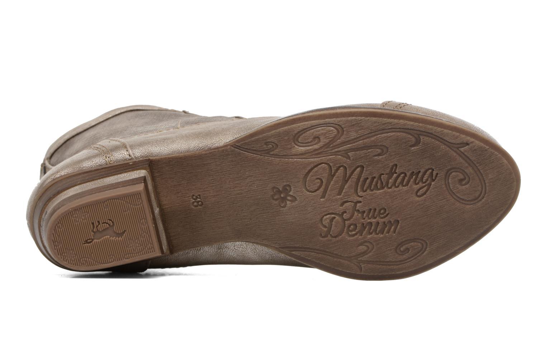Bottines et boots Mustang shoes Foltar Or et bronze vue haut