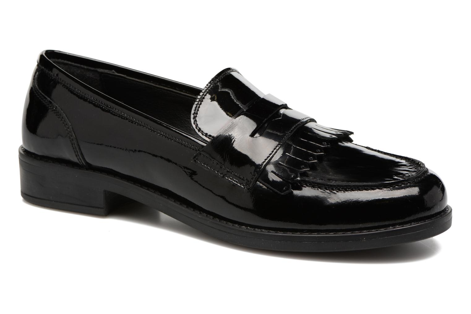 Loafers Georgia Rose Antho Black detailed view/ Pair view