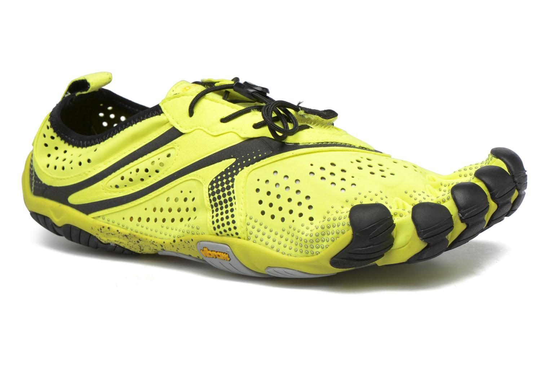 Chaussures de sport Vibram FiveFingers V-Run Jaune vue détail/paire