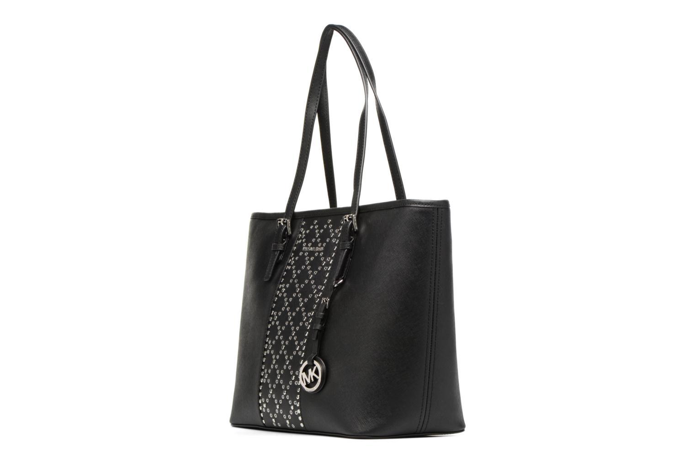 Bolsos de mano Michael Michael Kors JET SET TZ TOTE CLOUS Negro vista del modelo