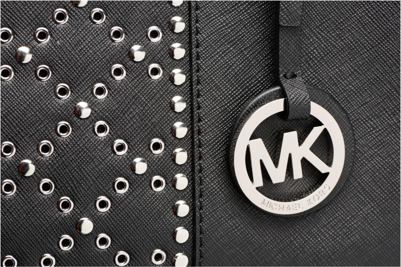 Bolsos de mano Michael Michael Kors JET SET TZ TOTE CLOUS Negro vista lateral izquierda