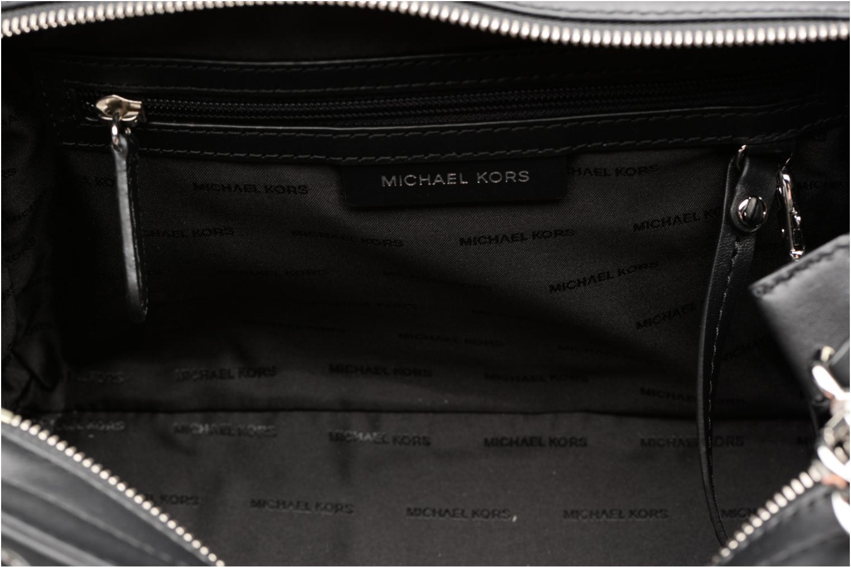 Handtassen Michael Michael Kors SELMA MD TZ SATCHEL CLOUS Zwart achterkant