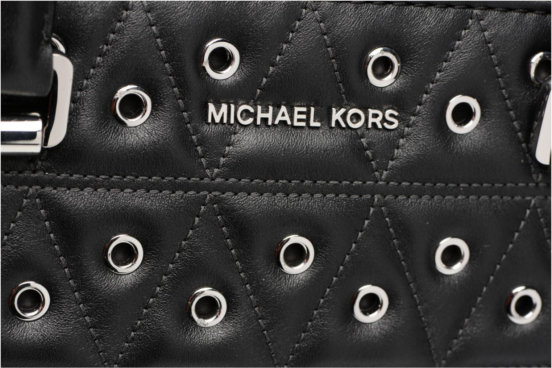 Handtassen Michael Michael Kors SELMA MD TZ SATCHEL CLOUS Zwart links