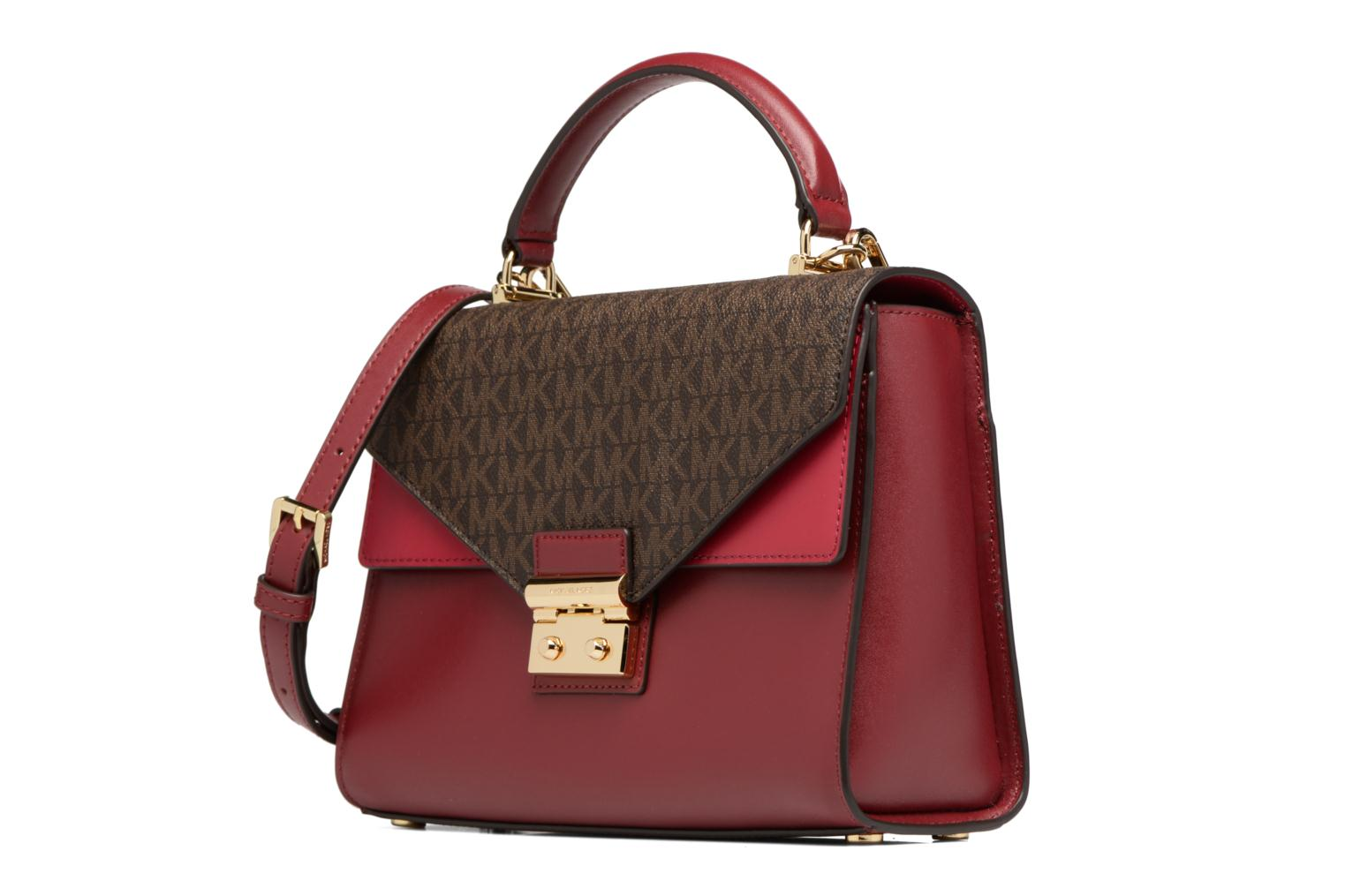 SLOAN MD TH SATCHEL 279BROWN MELBURY CRANBERRY